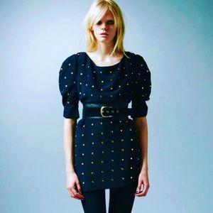 Alice by Temperley Navy Studded Mini Lila Dress
